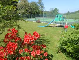 Tennis Court and Play Area