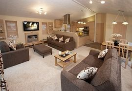 York Holiday Lodges - Lounge area of the York Holiday Lodge