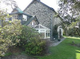 Pentre Bach Holiday Cottages - Pentre Bach House, Y Llaethdy and Y Popty from the garden.
