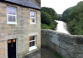 Riverside Cottage - Riverside Cottage and a view of the River Coquet