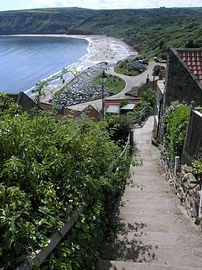 Steps from Inglenook to the beach