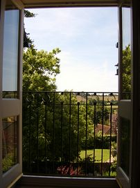 Eype View Apartment - View from Juliet balcony.