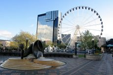 View of Central Birmingham including the Birmingham Mail Wheel © Dainis Derics/shutterstock