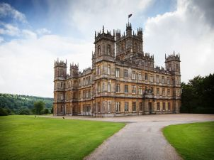 View of Highclere Castle, home of Downton Abbey