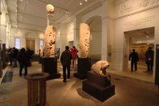 Ashmolean Museum gallery with stone statues