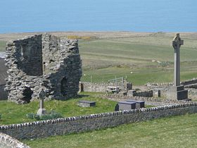 Bardsey Abbey ruins © Jeffrey Darlington