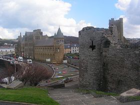 Aberystwyth Castle and University © Colette Bettis