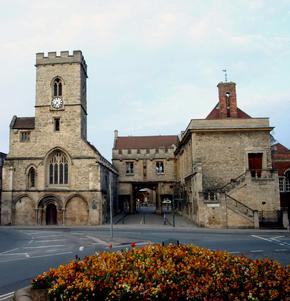 Historic Church and archway in Abingdon