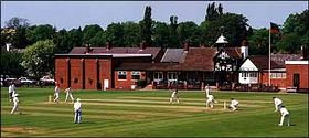 Alderly Edge cricket club looking from Mottram Road © George Marshall