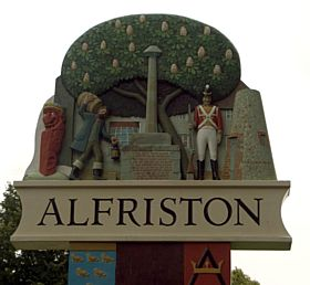 Front of Alfriston Village Sign © Diana Hitchin