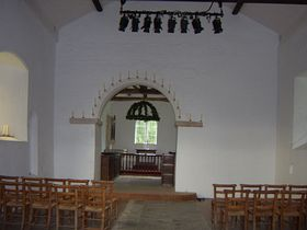 Inside All Saints church - note blocked up windows which aren't present on the exterior © DM