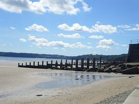 View to wisemans from Amroth beach © Wayn and Sue Davies