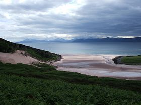 Sand. Applecross Road to Applecross © louise pond