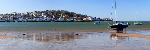 Panorama of Appledore as viewed across the bay from Instow Devon England