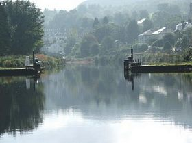 Arriving in Ardrishaig from canal towpath © Jaki Stevenson