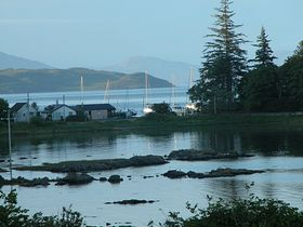 Arvaser Bay 10 pm on a July evening taken from the Old Church © Kathy Chappelle