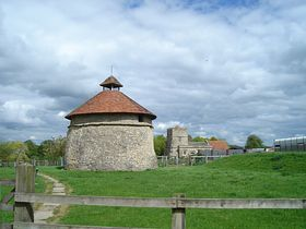 Dovecote and church © Beryl Payler