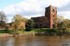 The 11th century church of St eata overlooking the River Severn at Atcham © Paul Deavall                                              St eata overlook             ng the
