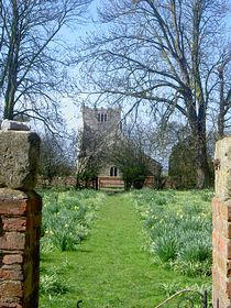 The gateway to Aughton Church from Aughton Manor. © Stuart Hartley