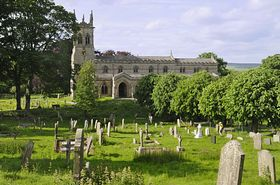 St Andrews Church Aysgarth is said to have the largest churchyard in England © David Packman