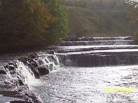 Waterfall on the river Bain © Philip Cookson