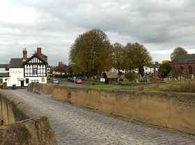 View of the Royal Oak from the bridge © Chris Park