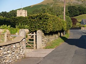 towards the church from Barbon Inn © Phyllis Williams