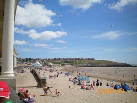Barry Island beach[Nell's Point in the background] © Philip Cookson
