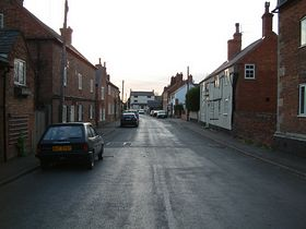 Barsby - looking down the Main Street at the old pub which caught fire a good 15 years ago - © Sam Tait