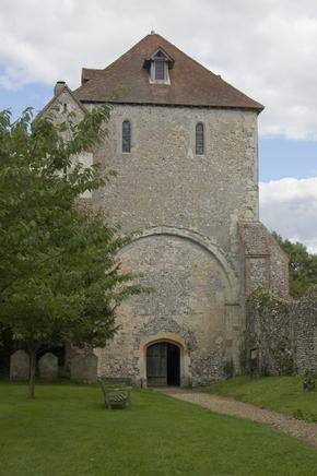 Austere exterior of Pamber Priory near Basingstoke - now a parish church
