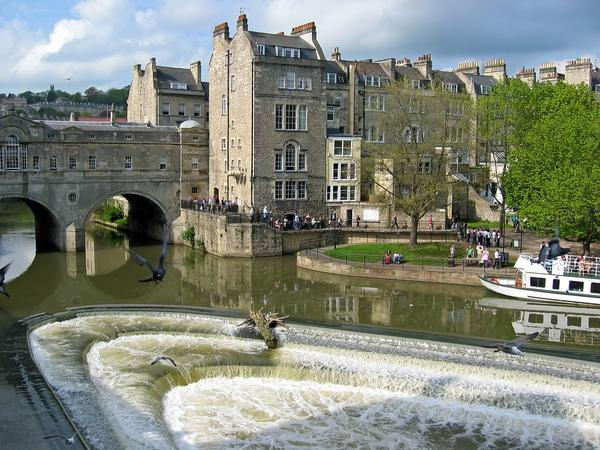 Weir in the River Avon in Bath