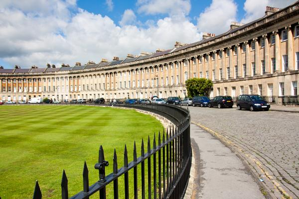 Famous Royal Crescent in Bath