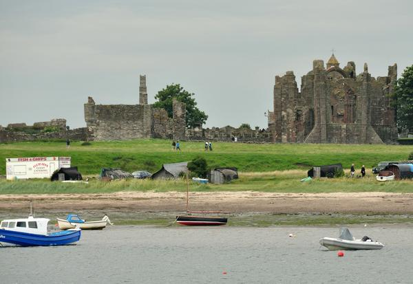 Lindisfarne priory from the castle
