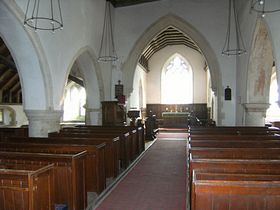 Interior. Beddingham Church © Ingrid Weston