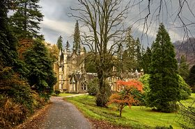 Benmore House amid its beautiful gardens in Autumn. © John E Olbison