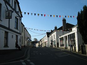 Fore Street in Carnival Week © Sally Dunn