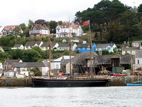 A barque moored on the Torridge estuary, Bideford © Rod Jones