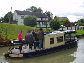 Birdingbury Wharf and Dayboat. © Bill Rogers