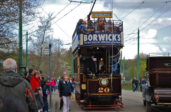 Historic Birkenhead tram on display at Beamish