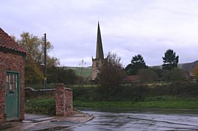 View of St Edith's Church spire  © Neil Rhodes
