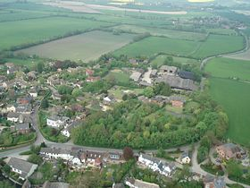 The East part of the village with the road from Idstone and Ashbury on the right © Neil Maw www.whereitis.co.uk