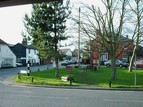 The Horsefayre Green, picture taken from front of village shop © Nat Whalley