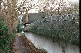 Blewbury Ancient Thatched Wall. © Don Evemy