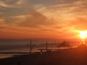 Sunset towards bandstand & pier Bognor Regis © Gary Standen
