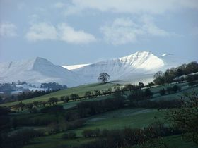 Pen y Fan from just above the village of Boughrood © Danny Kelleher