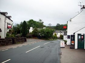 Post Office and Tea Rooms on the right.pub on left © Adrian English