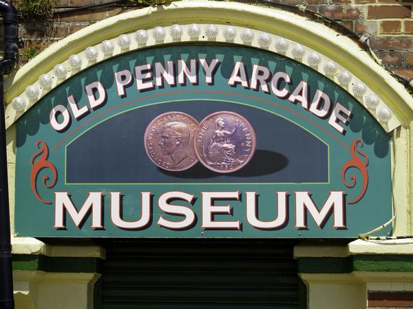 Sign to the Old Penny Arcade Museum