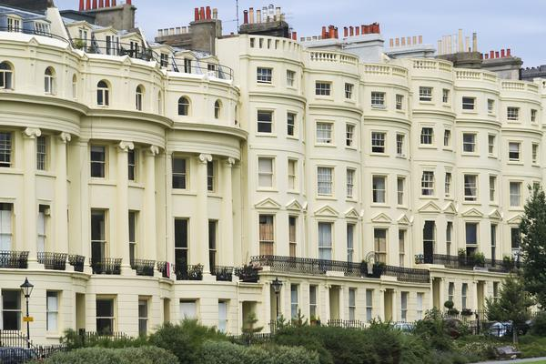 Regency Terraces - built in the early 19th Century Regency Period.