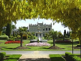 Brodsworth Hall and Fountain from Laburnum Arch © Steve Willimott