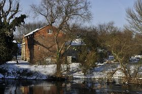 Bromham Mill and river Ouse Christmas Day 2010 © W SIMPKINS